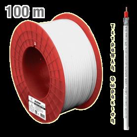 ΚΑΛΩΔΙΟ Coaxial 120DB CCS AL Eca PVC White 100m