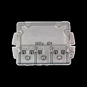 543702 splitter 4 ways Easy-F 5-2400 MHz DC pass