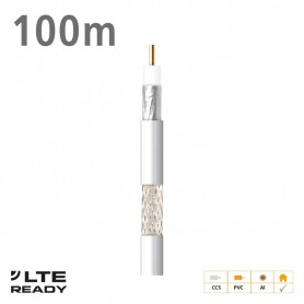2127 ΚΑΛΩΔΙΟ Coaxial CXT-1 CCS AL Eca PVC White 100m