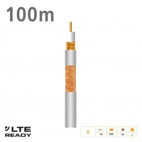 2141 ΚΑΛΩΔΙΟ Coaxial T-100plus Cu/Cu Eca PVC White 100m
