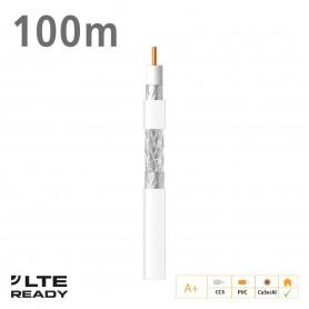 414801 ΚΑΛΩΔΙΟ Coaxial SK6F+ CCS CuSn/AL Eca PVC White 100m