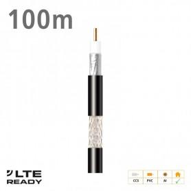 212701 ΚΑΛΩΔΙΟ Coaxial CXT-1 CCS AL Eca PVC Black 100m