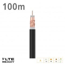 215501 ΚΑΛΩΔΙΟ Coaxial T100plus Cu/Cu Fca PE Black 100m