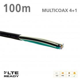 211011 ΚΑΛΩΔΙΟ MULTICOAX 4+1 CCS PVC Black 100m