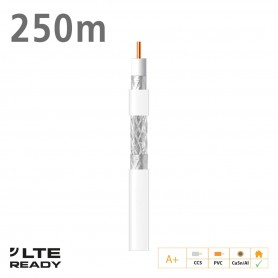 414802 ΚΑΛΩΔΙΟ Coaxial SK6F+ CCS CuSn/AL Eca PVC White 250m