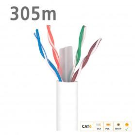219901 ΚΑΛΩΔΙΟ UTP DK6000 Cat.6 U/UTP Fca CCA PVC 6.2mm White 305m