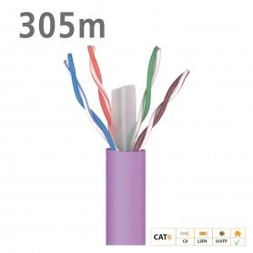 2123 ΚΑΛΩΔΙΟ UTP DK6000 Cat.6 U/UTP Dca Cu LSFH 6.2mm Violet 305m