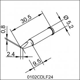 0102CDLF24 ERSA ΑΝΤΑΛΛΑΚΤΙΚΟ ΑΙΧΜΗ 2,4mm