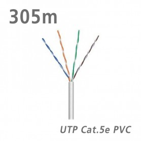 95410 ΚΑΛΩΔΙΟ UTP Cat.5e U/UTP Eca CCA PVC 5.0mm Grey 305m