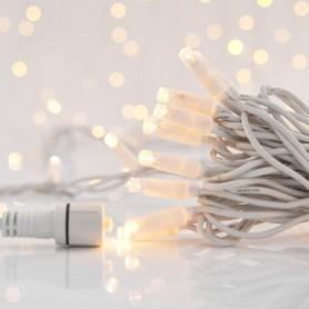 ΣΕΙΡΑ, 100 LED 5mm ΑΝΑ 10cm, 230V, ΕΠΕΚΤΑΣΗ ΕΩΣ 9, ΛΕΥΚΟ ΚΑΛΩΔΙΟ, ΚΑΟΥΤΣΟΥΚ, ΘΕΡΜΑ ΛΕΥΚΑ LED, ΙΡ65
