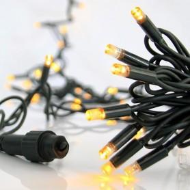 ΣΕΙΡΑ, 100 LED 5mm, 230V, ΕΠΕΚΤΑΣΗ ΕΩΣ 9, ΠΡΑΣΙΝΟ ΚΑΛΩΔΙΟ, ΚΑΟΥΤΣΟΥΚ, ΘΕΡΜΑ ΛΕΥΚΑ LED, ΑΝΑ 10cm. ΙΡ65