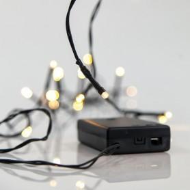ΣΕΙΡΑ ΜΠΑΤΑΡΙΑΣ, 20 LED 5mm, ΠΡΑΣΙΝΟ ΚΑΛΩΔΙΟ, ΘΕΡΜΑ ΛΕΥΚΑ LED, ΑΝΑ 10cm, IP20.