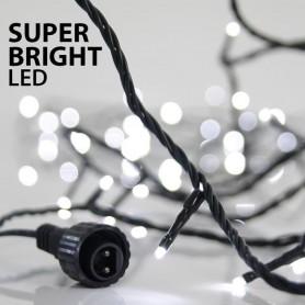 ΣΕΙΡΑ, 100 LED SUPER BRIGHT 3mm, 31V, ΕΠΕΚΤΑΣΗ ΕΩΣ 3, ΠΡΑΣΙΝΟ ΚΑΛΩΔΙΟ, ΛΕΥΚΟ LED ΑΝΑ 10cm, ΙΡ44