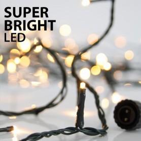 ΣΕΙΡΑ, 100 LED SUPER BRIGHT 3mm, 31V, ΕΠΕΚΤΑΣΗ ΕΩΣ 3, ΠΡΑΣΙΝΟ ΚΑΛΩΔΙΟ, ΘΕΡΜΟ ΛΕΥΚΟ LED ΑΝΑ 10cm, ΙΡ44