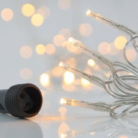 ΣΕΙΡΑ, 100 LED 3mm, 31V, ΕΠΕΚΤΑΣΗ ΕΩΣ 3, ΔΙΑΦΑΝΟ ΚΑΛΩΔΙΟ, ΘΕΡΜΟ ΛΕΥΚΟ LED ΑΝΑ 5cm, ΙP44
