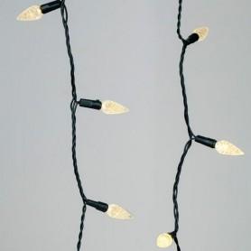 ΣΕΙΡΑ, 100 LED ΔΙΑΜΑΝΤΑΚΙ 5mm, 31V, DIMMER, 8 ΠΡΟΓΡΑΜΜΑΤΑ, ΠΡΑΣΙΝΟ ΚΑΛΩΔΙΟ, ΘΕΡΜΟ ΛΕΥΚΟ LED, ΑΝΑ 10cm, ΙΡ20