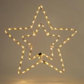 ΑΣΤΕΡΙ, ΔΙΠΛΟ, ΘΕΡΜΟ ΛΕΥΚO, LED, ΜΕ 3m. ΦΩΤ/ΝΑ ΚΑΙ ΠΡΟΓΡΑΜΜΑ, 55x56cm, IP44