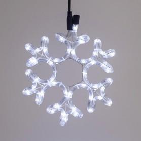 ΧΙΟΝΟΝΙΦΑΔΑ, ΛΕΥΚΗ, LED, ΜΕ 2m ΦΩΤ/ΝΑ, 25x25cm,IP44