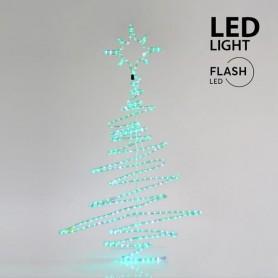 ΔΕΝΤΡΟ ΠΡΑΣΙΝO, LED, ΜΕ 9m ΦΩΤ/ΝΑ, ME FLASH, 120x70cm, IP44