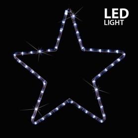 ΑΣΤΕΡΙ, ΛΕΥΚΟ, LED, ΜΕ 2m ΦΩΤ/ΝΑ, 56x56cm, IP44