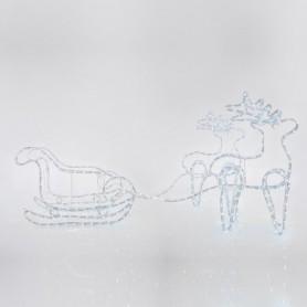 ΕΛΚΗΘΡΟ ΜΕ 2 ΕΛΑΦΙΑ, 3D, ΑΚΡΥΛΙΚΟ, ΛΕΥΚΗ ΦΩΤ/ΝΑ, 150x30x65cm