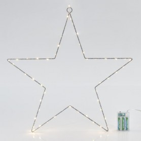 ΑΣΤΕΡΙ ΦΩΤΙΖΟΜΕΝΟ, 60 LED, ΜΠΑΤΑΡΙΑΣ, ΜΕ TIMER, 50cm