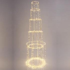 ΠΥΡΓΟΣ ΦΩΤΙΖΟΜΕΝΟΣ, 4350 ΘΕΡΜΑ LED, ΜΕ ΜΕΤΑΣΧΗΜΑΤΙΣΤΗ, ΧΑΛΚΟΥ, 163x40cm