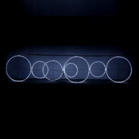 ΔΑΚΤΥΛΙΟΙ ΦΩΤΕΙΝΟΙ, LED, ΜΕ ΛΕΥΚΗ  ΦΩΤ/ΝΑ, 28m, 400x100cm