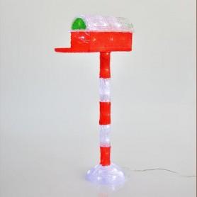 ΑΚΡΥΛΙΚΟ ΓΡΑΜΜΑΤΟΚΙΒΩΤΙΟ, 50 ΛΕΥΚΑ LED, 31x16x60cm, IP44