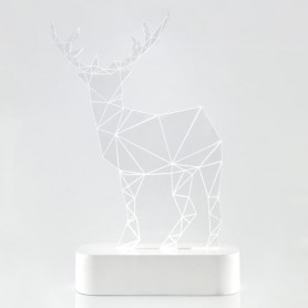 ΤΑΡΑΝΔΟΣ PLEXI GLASS, ΦΩΤΙΖΟΜΕΝΟΣ, 5 LED, ΜΠΑΤΑΡΙΑΣ, 15x5,5x22cm