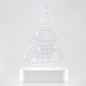 ΔΕΝΤΡΟ PLEXI GLASS, ΦΩΤΙΖΟΜΕΝΟ, 5 LED, ΜΠΑΤΑΡΙΑΣ, 13x5,5x22,5cm