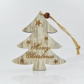 """ΔΕΝΤΡΑΚΙ ΞΥΛΙΝΟ, """"MERRY CHRISTMAS"""", 20x10x0,5cm"""