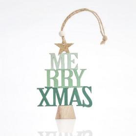 ΔΕΝΤΡΑΚΙ ΞΥΛΙΝΟ MERRY CHRISTMAS, ΜΕΝΤΑ, 23x0,5x8cm