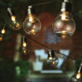 ΣΕΙΡΑ, 20 LED, 31V, ΔΙΑΦΑΝΟΙ ΠΛΑΣΤΙΚΟΙ ΓΛΟΜΠΟΙ, ΔΙΑΦΑΝΟ ΚΑΛΩΔΙΟ, ΑΝΑ 20cm.ΙΡ44