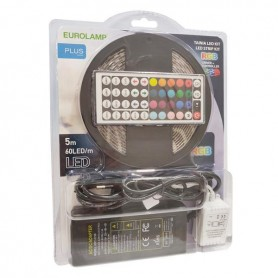 ΤΑΙΝΙΑ LED ΚΙΤ 5 ΜΕΤΡΩΝ 14,4W+DRIVER+CONTROLLER 12V RGB IP44 BLISTER PLUS