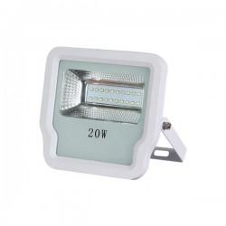 ΠΡΟΒΟΛΕΑΣ LED SMD 20W IP65 85-265V 3000K ΑΣΠΡΟΣ PRO