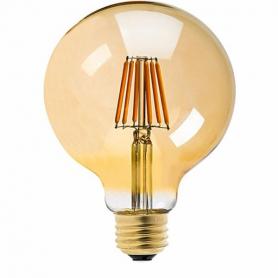 LAFLIGHT - Λαμπτήρας LED Filament VSG125 - 8W E27 2700K Dim Amber