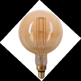 LAFLIGHT - Λαμπτήρας LED Filament VSG200 - 8W E27 2700K Dim Amber