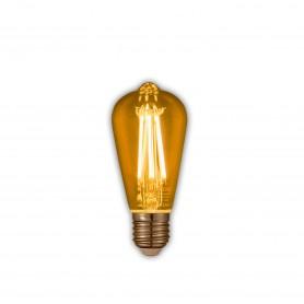 LAFLIGHT - Λαμπτήρας LED Filament VSST64 - 6W E27 2700K Dim Amber
