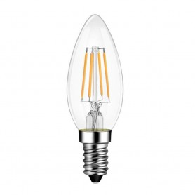 ETK - Λαμπτήρας LED Filament C35 (Κερί) - 4W E14 3000K