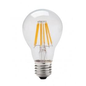 LAFLIGHT - Λαμπτήρας LED Filament A60 (Αχλαδωτός) - 8W E27 3000K