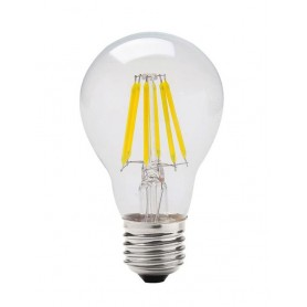 LAFLIGHT - Λαμπτήρας LED Filament A60 (Αχλαδωτός) - 8W E27 6500K