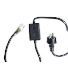 Καλώδιο Τροφοδοσίας Φωτοσωλήνα LED 2 Κανάλια - EU IP44 1m με Πρόγραμμα