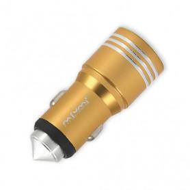 NFM-C08 - Φορτιστής Αυτοκινήτου USB Διπλός (5V-3.1A) - GOLD