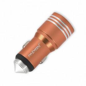 NFM-C08 - Φορτιστής Αυτοκινήτου USB Διπλός (5V-3.1A) - ROSE_GOLD