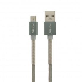 NFM-A501 - Καλώδιο Φόρτισης/Δεδομένων (1m-3A-Aluminium) - Micro USB - GREY