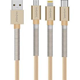NFM-A503 - Καλώδιο Φόρτισης/Δεδομένων (1m-3A-Aluminium) - USB-C - GOLD