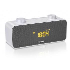 JNTR-M39 - Φορητό Bluetooth Ηχείο (MP3-Ρολόι-Ξυπνητήρι) - WHITE