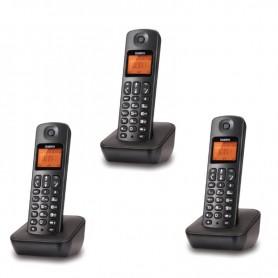Τηλέφωνο Ασύρματο TRIPLE UNIDEN AT-3100-3 Μαύρο