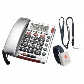 Τηλέφωνο  Επιτραπέζιο AMPLICOMMS BigTel 50 Alarm Plus Ασημί